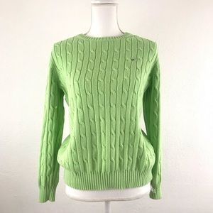 Vineyard Vines LG Cable Sweater Cotton Knit